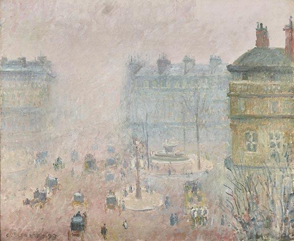 Pissarro | Place du Theatre Francais - Foggy Weather, 1898