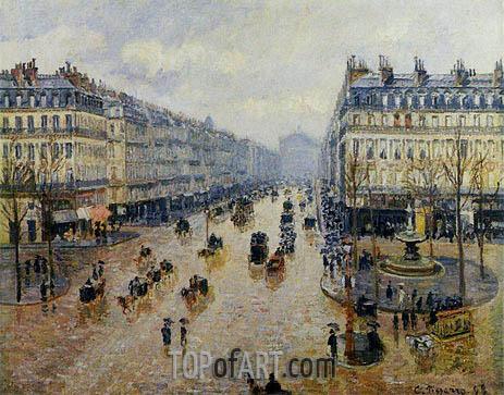 Avenue de l'Opera - Rain Effect, 1898 | Pissarro | Gemälde Reproduktion