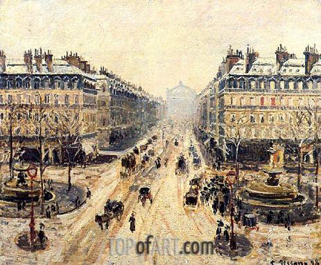 Pissarro | Avenue de l'Opera, Snow Effect, 1898