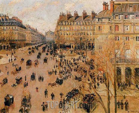 Pissarro | Place du Theatre Francais - Sun Effect, 1898