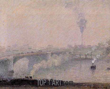 Rouen, Fog Effect, 1898 | Pissarro | Painting Reproduction
