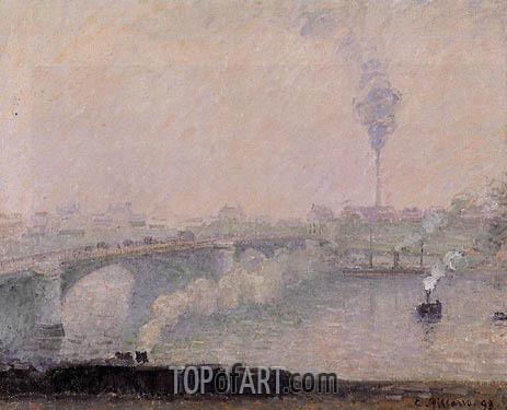 Pissarro | Rouen, Fog Effect, 1898