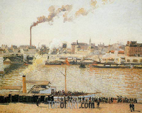 Rouen, Saint-Sever - Morning, 1898 | Pissarro | Painting Reproduction