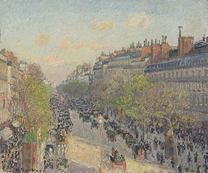 Pissarro | Boulevard Montmartre - Sunset, 1897