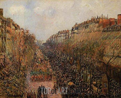 Pissarro | Boulevard Montmartre - Mardi-Gras, 1897