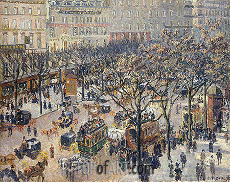 Boulevard des Italiens - Morning, Sunlight, 1897 | Pissarro | Painting Reproduction