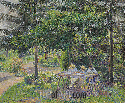 Children in a Garden at Eragny, 1892 | Pissarro| Gemälde Reproduktion