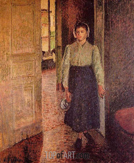 The Young Maid, 1896 | Pissarro | Gemälde Reproduktion
