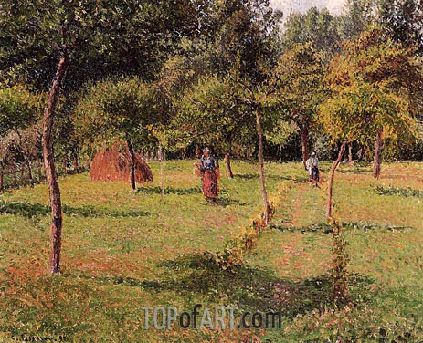 Enslosed Field at Eragny, 1896 | Pissarro | Painting Reproduction