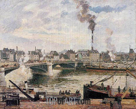 Pissarro | The Great Bridge, Rouen, 1896