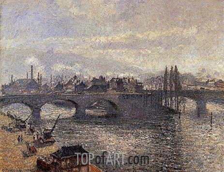 Le Pont Corneille a Rouen, Effet du Matin, 1896 | Pissarro | Gemälde Reproduktion