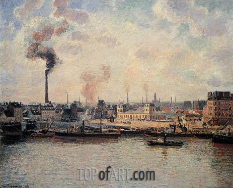 Pissarro | The Saint-Sever Quay, Rouen, 1896