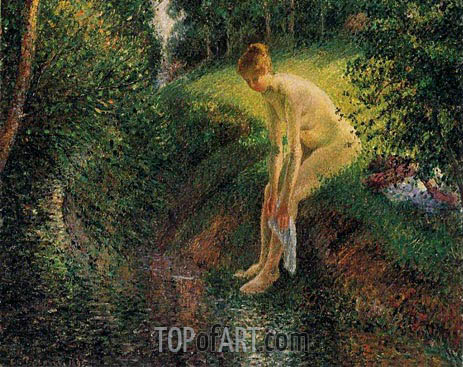 Bather in the Woods, 1895 | Pissarro| Painting Reproduction