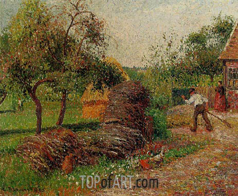Mother Lucien's Yard, Eragny, 1895 | Pissarro | Painting Reproduction