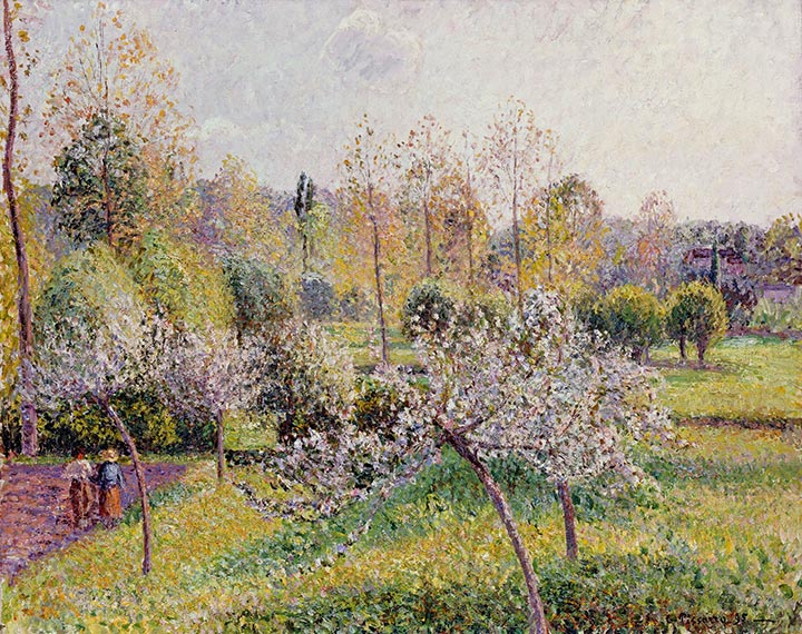 Flowering Apple Trees, Eragny, 1895 | Pissarro | Painting Reproduction