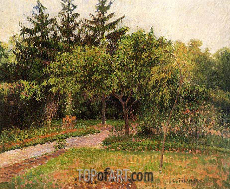 The Garden at Eragny, c.1895 | Pissarro | Painting Reproduction