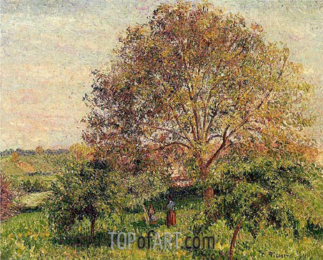 Walnut Tree in Spring, 1894 | Pissarro | Painting Reproduction