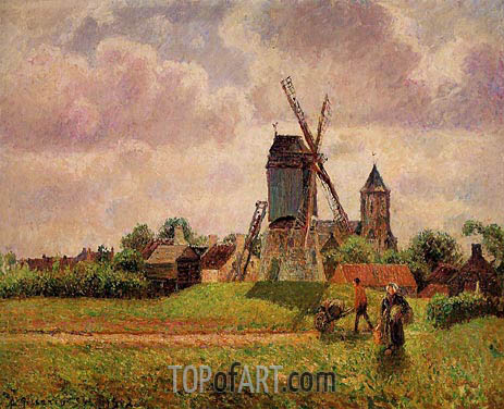 Pissarro | The Knocke Windmill, Belgium, 1894/02
