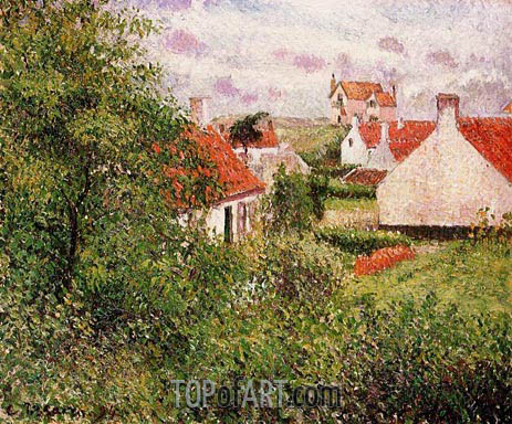 Pissarro | Houses at Knocke, Belgium, 1894