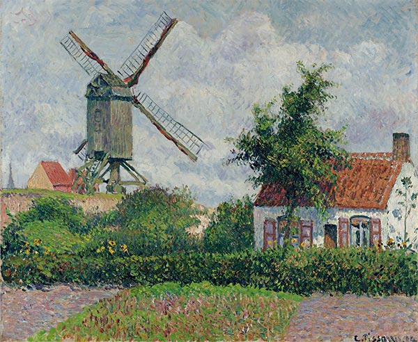 Windmil at Knocke, Belgium, 1894 | Pissarro | Gemälde Reproduktion