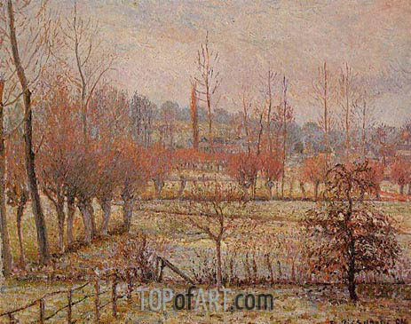 Hoarfrosst, Morning (Snow Effect in Eragny), 1894 | Pissarro| Painting Reproduction