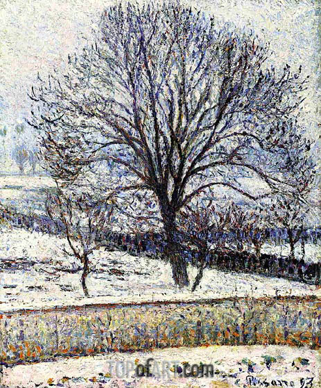 Pissarro | The Thaw, Eragny, 1893