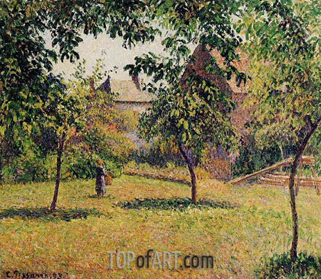 The Barn, Morning, Eragny, 1893 | Pissarro | Gemälde Reproduktion