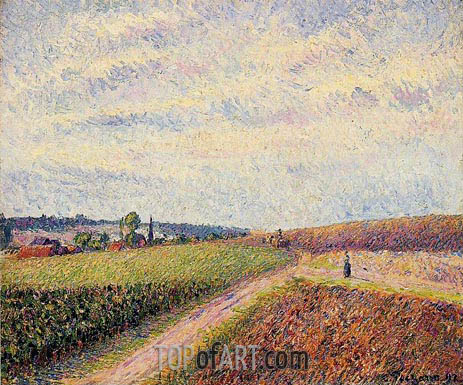 View of Eragny, 1892 | Pissarro | Gemälde Reproduktion