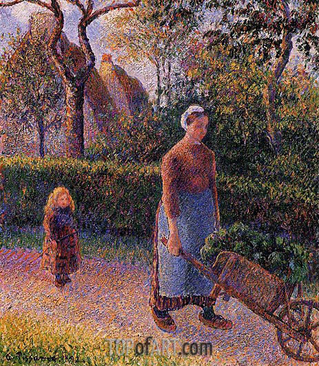 Woman with a Wheelbarrow, 1892 | Pissarro | Painting Reproduction