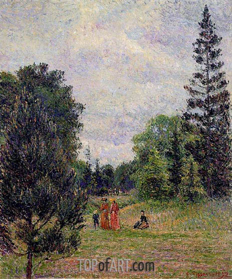 Pissarro | Kew Gardens, Crossroads near the Pond, 1892