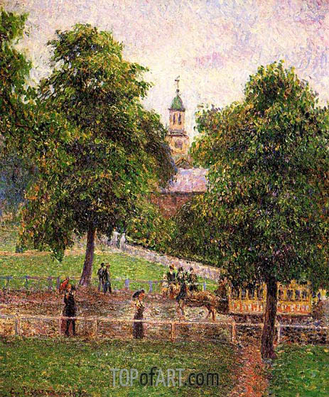 Church at Kew, 1892 | Pissarro | Painting Reproduction