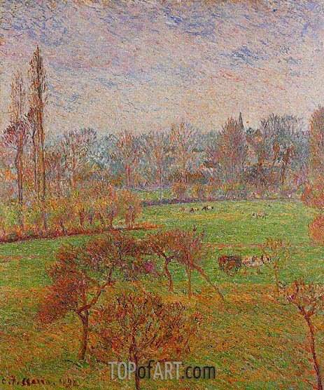 Pissarro | Morning, Autumn, Eragny, 1892