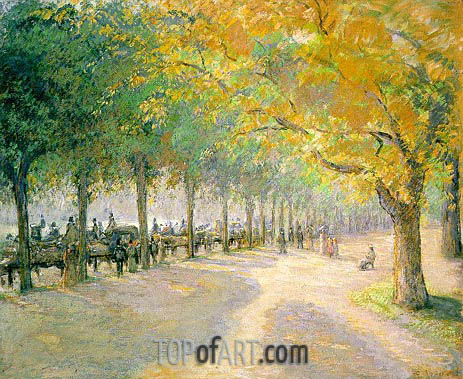 Hyde Park, London, 1890 | Pissarro| Painting Reproduction