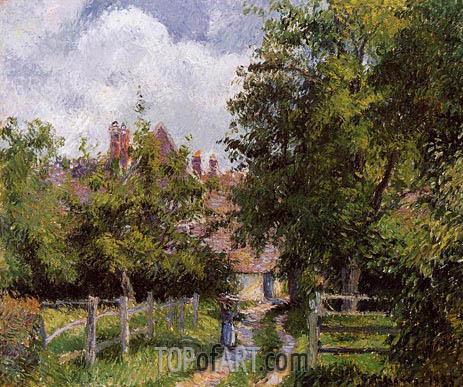 Saint-Martin, near Gisors, 1885 | Pissarro | Gemälde Reproduktion