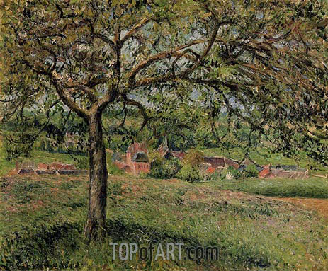 Apple Tree at Eragny, 1884 | Pissarro | Painting Reproduction