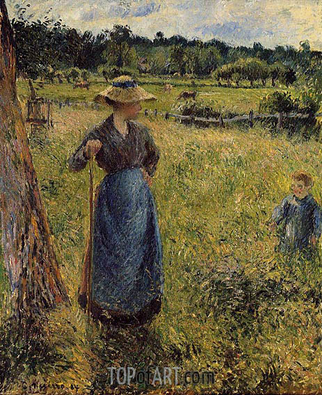 The Tedder, 1884 | Pissarro | Painting Reproduction