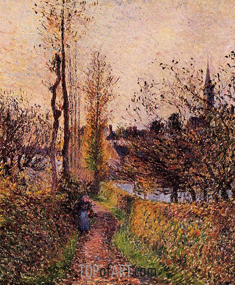 La Sentier de Basincourt, 1884 | Pissarro | Painting Reproduction