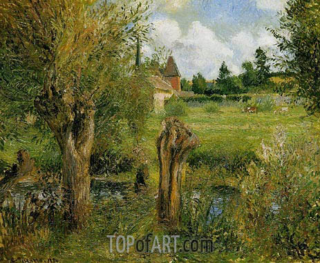 Pissarro | The Banks of the Epte at Eragny, 1884