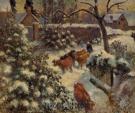 Pissarro | Snow Effect in Montfoucault, 1882