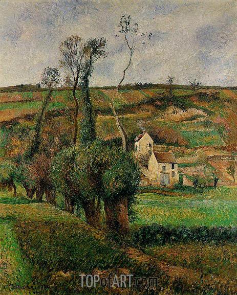 La Cote de 'Chou' a Pontoise, 1882 | Pissarro | Gemälde Reproduktion