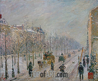Pissarro | The Boulevards under Snow, 1879