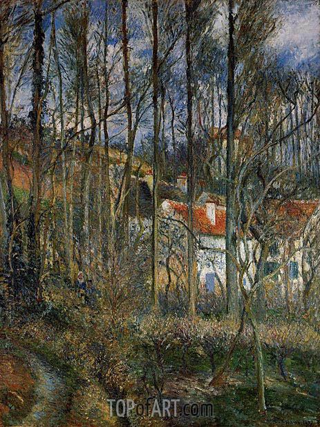 Pissarro | The Cote des Boeufs at L'Hermitage, near Pontoise, 1877