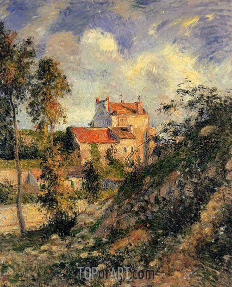 Les Mathurins, Pontoise, 1877 | Pissarro | Painting Reproduction