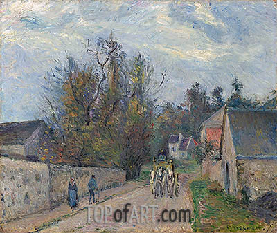 Diligence on the Road from Ennery to l'Hermitage, 1877 | Pissarro| Gemälde Reproduktion