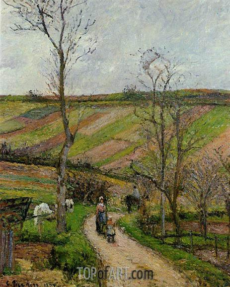 Pissarro | Route du Fond de l'Hermitage, Pontoise, 1877