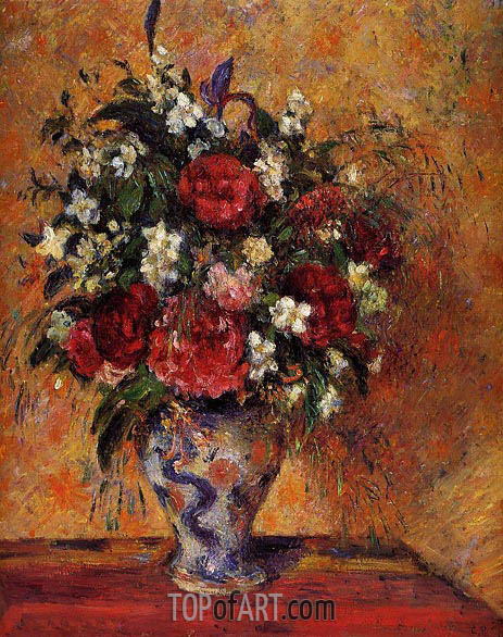 Vase of Flowers, c.1877/78 | Pissarro | Gemälde Reproduktion