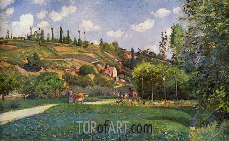 A Cowherd at Valhermeil, Auvers-sur-Oise, 1874 | Pissarro | Painting Reproduction