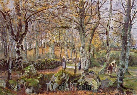 Pissarro | Landscape with Rocks, Montfoucault, 1874