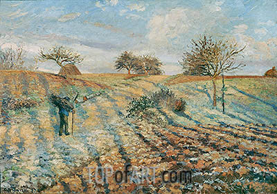 The Hoar Frost, 1873 | Pissarro| Painting Reproduction