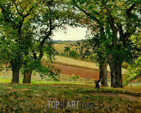 Pissarro | Chestnut Trees at Osny, 1873